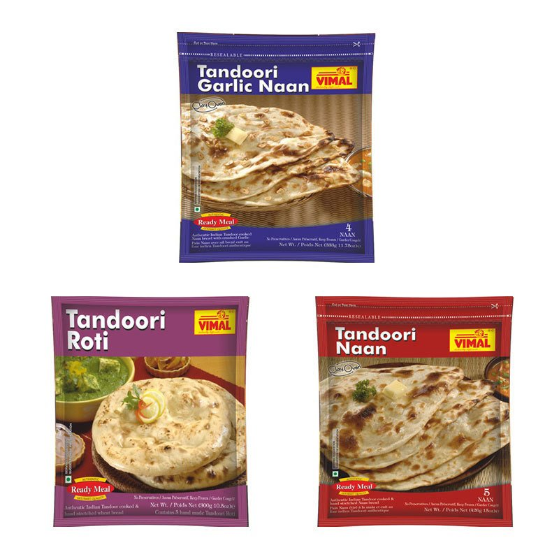 Frozen Tandoori Naan and Roti